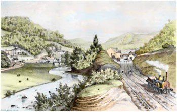 Hebden Bridge Railway Station in the 19th century